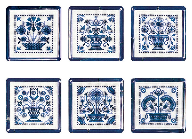 Cross stitch Delft Tiles image 0