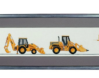 Cross stitch 'Construction Vehicles'