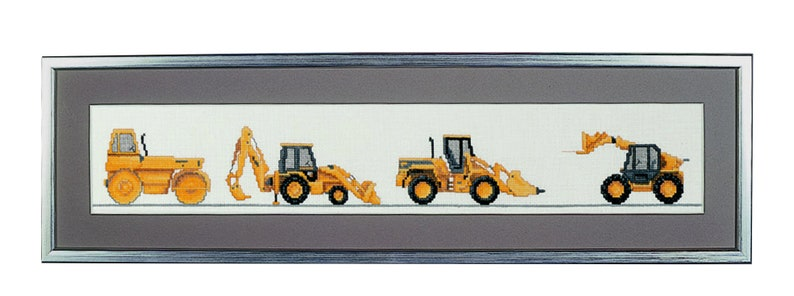 Cross stitch 'Construction Vehicles' image 0