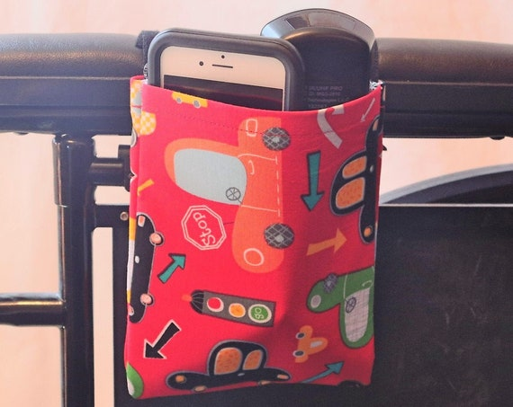 Cars Single Pocket Armrest Bag for Wheelchair, Walker or other Mobility Aides