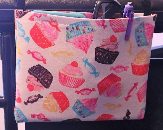 Cupcake Themed Single Pocket Armrest Bag for Wheelchair