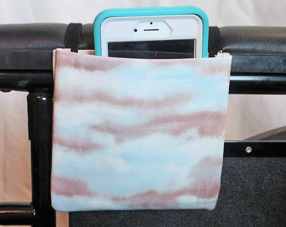 Clouds Armrest Hanging Cell Phone Holder for a Wheelchair, Walker or other Mobility Aides