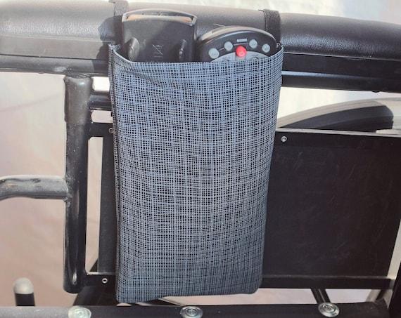 Single Pocket Armrest Bag for Wheelchair Remote Control Holder