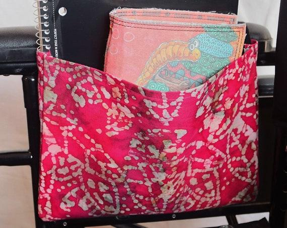 Single Pocket Armrest Bag for Wheelchair - Optional Closures available