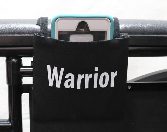 Warrior Black Fabric Wheelchair Cell Phone Holder
