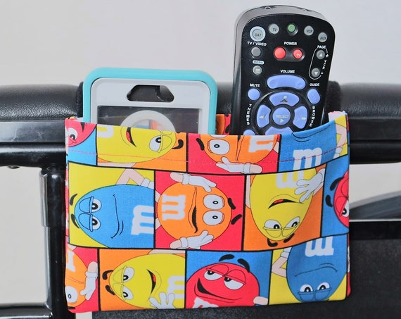 M and M's Single Pocket Armrest Bag for Wheelchair