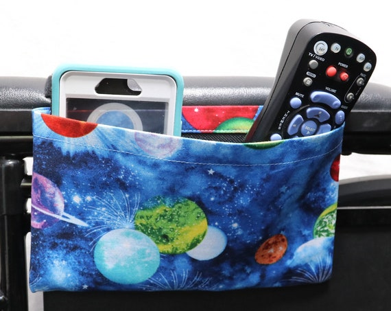 Galaxy Themed Single Pocket Armrest Bag for Wheelchairs