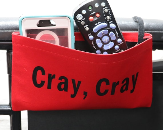 Cray, Cray Red Single Pocket Armrest Bag for Wheelchair - Optional Closures Available
