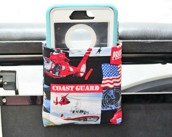 Extra Small Coast Guard Armrest Hanging Cell Phone Holder for a Wheelchair, Walker or other Mobility Aides