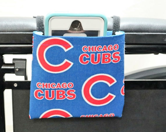 Cubs Themed Armrest Hanging Cell Phone Holder for a Wheelchair, Walker or other Mobility Aides