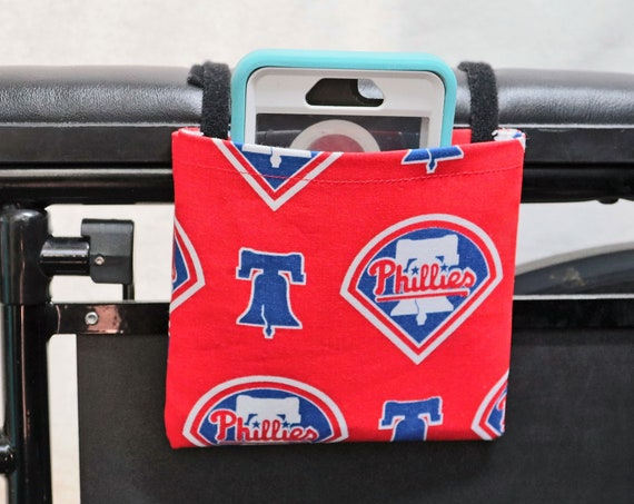 Phillies Armrest Hanging Cell Phone Holder for a Wheelchair, Walker or other Mobility Aides