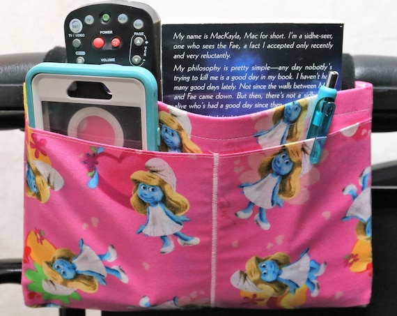 Smurfette Multiple Pocket Armrest Bag for Wheelchairs
