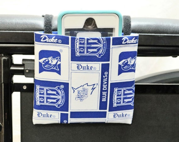 Duke Armrest Hanging Cell Phone Holder for a Wheelchair, Walker or other Mobility Aides