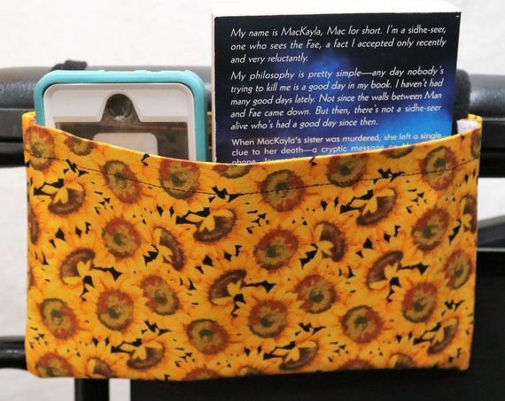 Sunflowers Single Pocket Armrest Bag for Wheelchairs