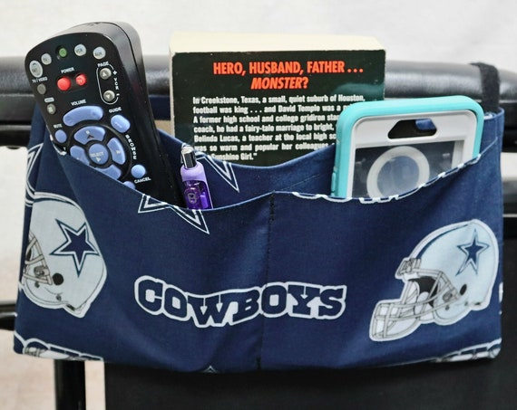 Cowboys Multiple Pocket Armrest Bag for Wheelchairs