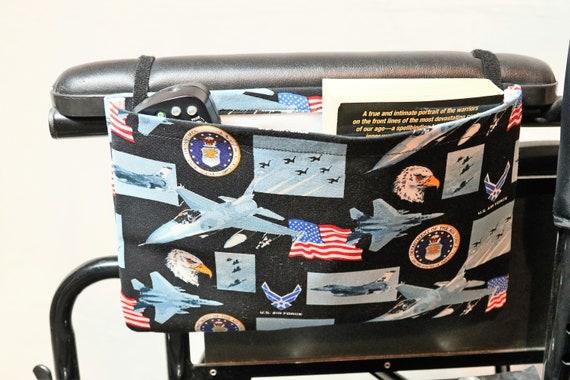Single Pocket Armrest Bag for Wheelchairs