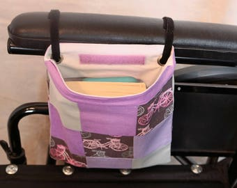 Single Pocket Armrest Bag for Wheelchair, Walker or other Mobility Aides
