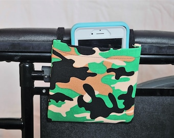 Armrest Hanging Cell Phone Holder for a Wheelchair, Walker or other Mobility Aides