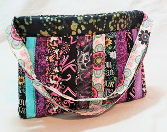 Floral and Whimsical one of a Kind Hobo Purse, single pocket