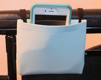 Pale Green Solid Color Single Pocket Armrest Bag for Wheelchair, Walker or other Mobility Aides