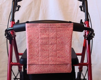Multiple Pocket Armrest Bag for Wheelchair, Walker or other Mobility Aides, Snap or Hook and Loop Closure Available