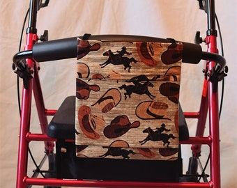 Cowboys Multiple Pocket Armrest Bag for Wheelchair, Walker or other Mobility Aides, Optional Closure Styles Available