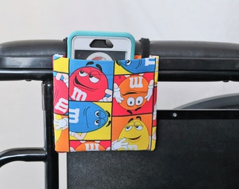 M&M Armrest Hanging Cell Phone Holder for a Wheelchair, Walker or other Mobility Aides