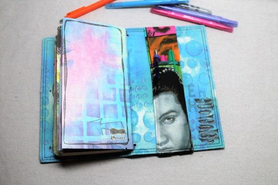 Elvis Travelers Journal Multiple Pen Holder, Planner , Journal Pen Holder,  Travel Journal Pen Holder Inside Outside