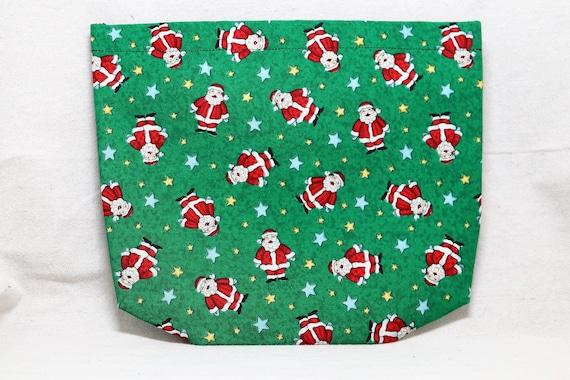 Santa Claus Single Pocket Armrest Bag for Wheelchair - Snap Closure, Hook and Loop Closure Available