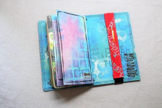 Rejoice Faith Traveler Journal Single Pen Holder, Planner , Journal Pen Holder,  Travel Journal Pen Holder Inside Outside