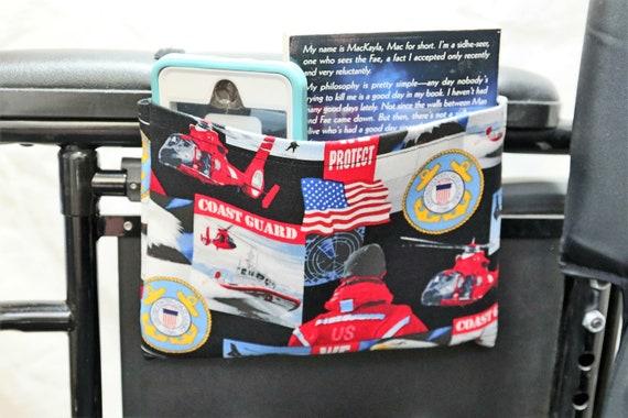 Coast Guard Single Pocket Armrest Bag for Wheelchairs