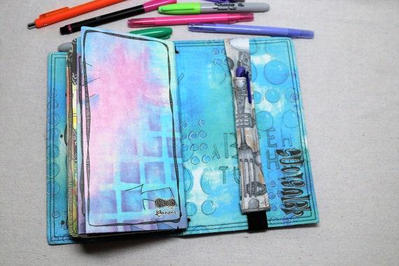 Forks and Spoons Travelers Journal Multiple Pen Holder, Planner , Journal Pen Holder,  Travel Journal Pen Holder Inside Outside