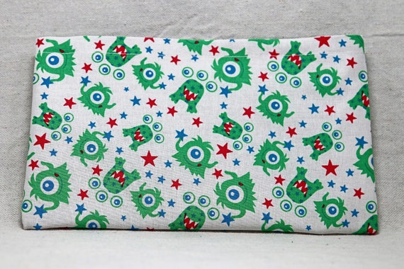 Green Aliens Single Pocket Armrest Bag for Wheelchair, Walker or other Mobility Aides, Optional Closure Styles Available