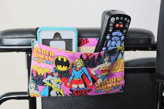 Super Women Single Pocket Armrest Bag for Wheelchair, Walker or other Mobility Aides