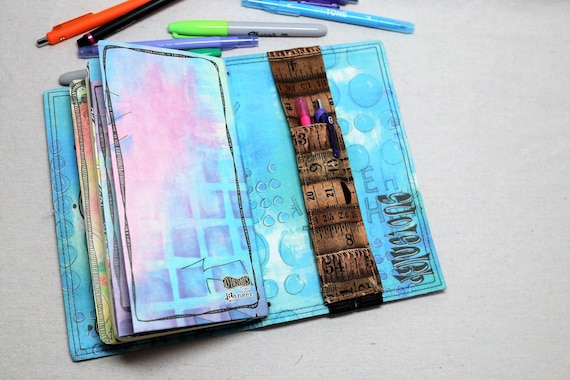 Rulers Travelers Journal Multiple Pen Holder, Planner , Journal Pen Holder,  Travel Journal Pen Holder Inside Outside