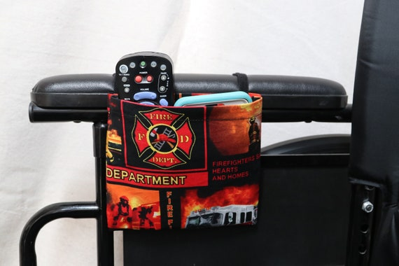 Fire Department Single Pocket Armrest Bag for Wheelchairs