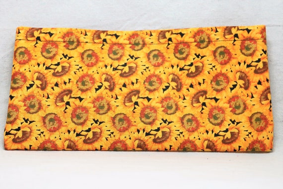 Sunflowers Single Pocket Armrest Bag for Wheelchair, Walker or other Mobility Aides, Optional Closure Styles Available