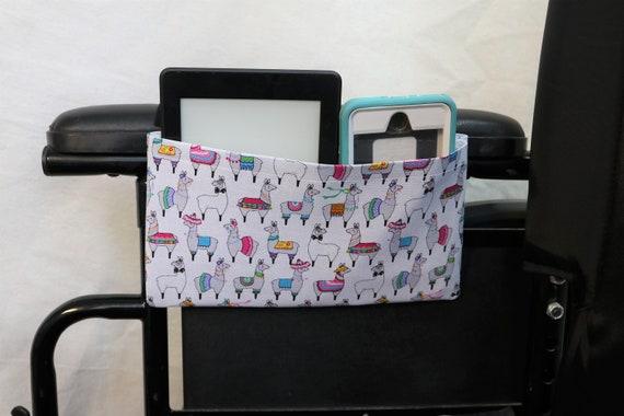Llamas Single Pocket Armrest Bag for Wheelchair - Optional Closure Styles Available