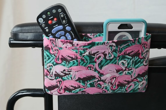 Flamingos Single Pocket Armrest Bag for Wheelchair, Walker or other Mobility Aides