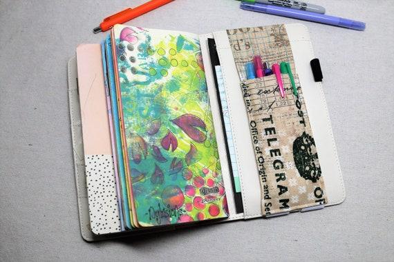 Vintage Traveler Travelers Journal Multiple Pen Holder, Planner , Journal Pen Holder,  Travel Journal Pen Holder Inside Outside
