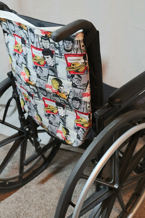 Rear Hanging Handle Bar Bags for Manual Wheelchairs and Transport Chairs – Great for Caregivers!