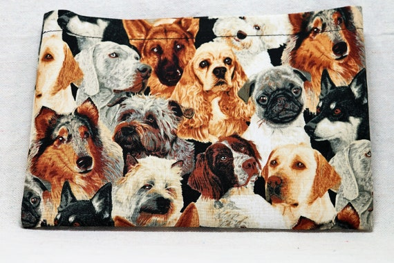 Dogs Themed Single Pocket Armrest Bag for Wheelchair, Walker or other Mobility Aides