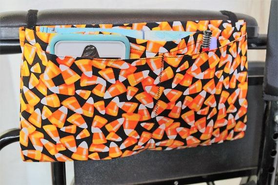 Wheelchair Accessory - Candy Corns Multiple Pocket Armrest Bag