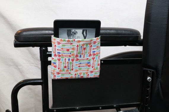 Arrows Armrest Hanging Cell Phone or e-reader Holder for a Wheelchair, Walker or other Mobility Aides