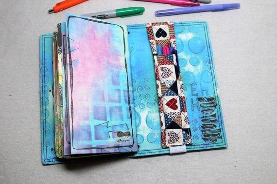 Americana Travelers Journal Multiple Pen Holder, Planner , Journal Pen Holder,  Travel Journal Pen Holder Inside Outside
