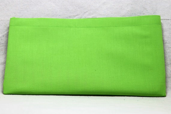 Lime Green Solid Color Single Pocket Armrest Bag for Wheelchair, Walker or other Mobility Aides