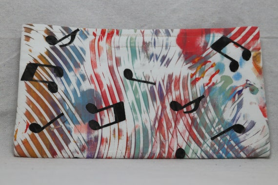 Single Pocket Armrest Bag with Closure for Wheelchair, walker or powerchair,  One of a Kind Hand Painted Fabric