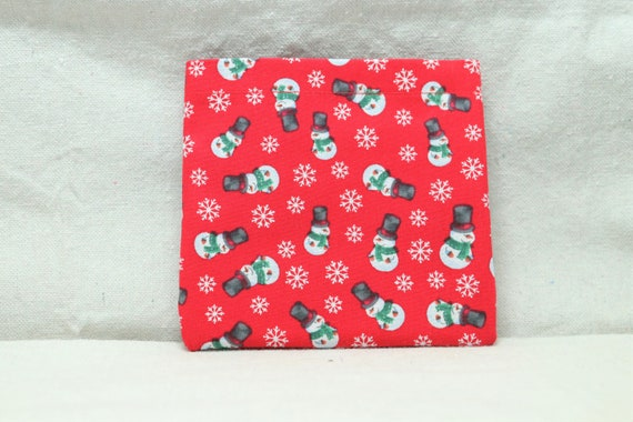 Snowmen and Snowflakes Armrest Hanging Cell Phone Holder for a Wheelchair, Walker or other Mobility Aides