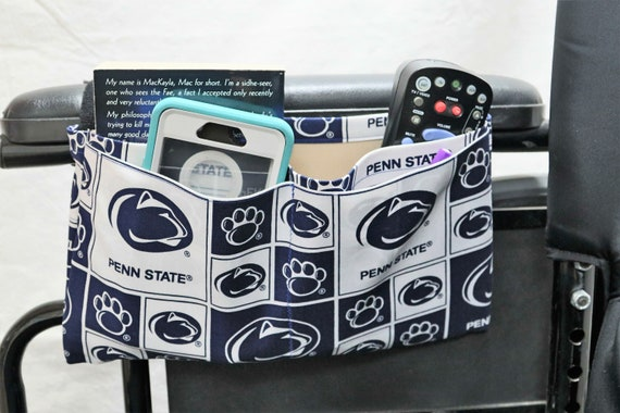 Nittany Multiple Pocket Armrest Bag for Wheelchairs