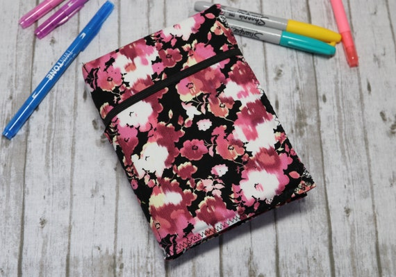 Floral Handcrafted Fabric Travelers Notebook